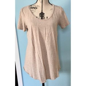 AEO Heather Oatmeal Soft & Sexy T
